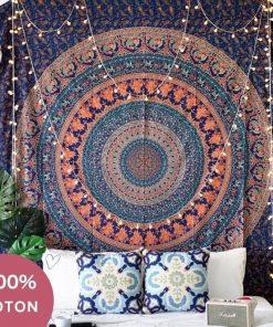Indische Baumwolle Mandala Tapete