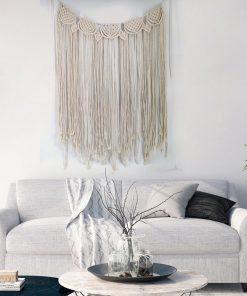 Makramee Kopfteil Wandbehang