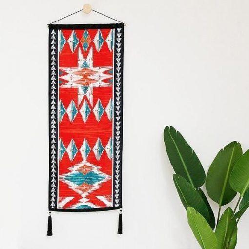 Roter böhmischer Wandteppich