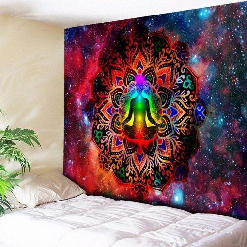 Indischer Yoga-Wandbehang - 150 x 130cm